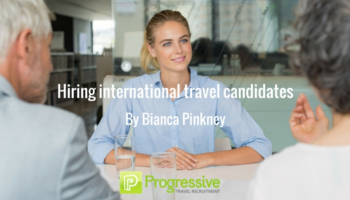 international candidates for travel role
