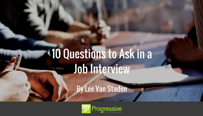 questions to ask about a job