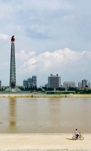North Korea. Progressive Travel Recruitment. Juche Tower, Pyongyang