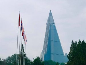 North Korea. Progressive Travel Recruitment. Ryugyong Hotel.